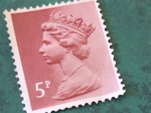 5p Unfranked Stamps Collectable