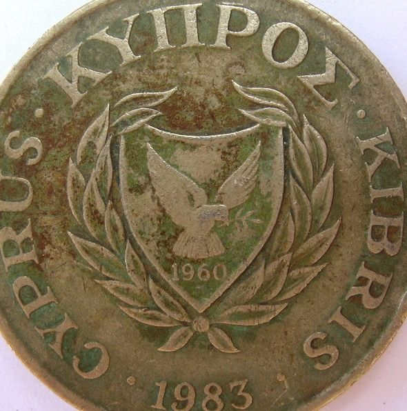 Cyprus 20 Twenty Cent Cents Greek Cypriot Coins