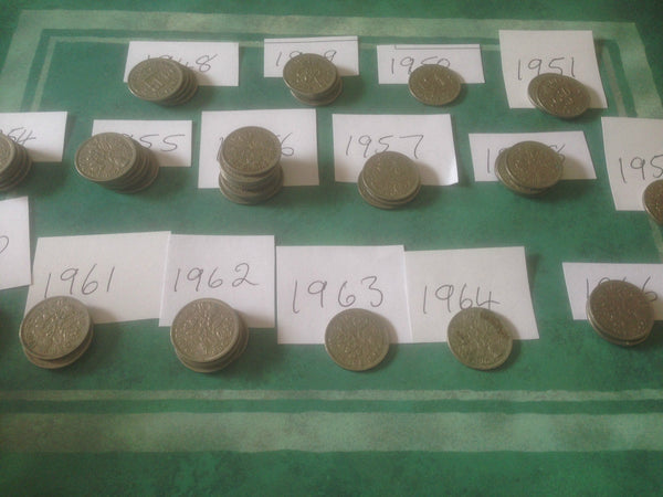 Sixpence QE2nd VGC and Uncirculated Lucky Sixpence 1953-1970