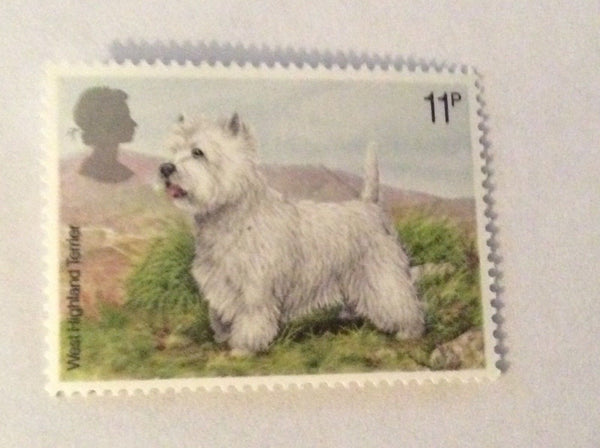 West Highland Terrier 11p February 7 1979 Mint Condition GB Stamp Unused MNH