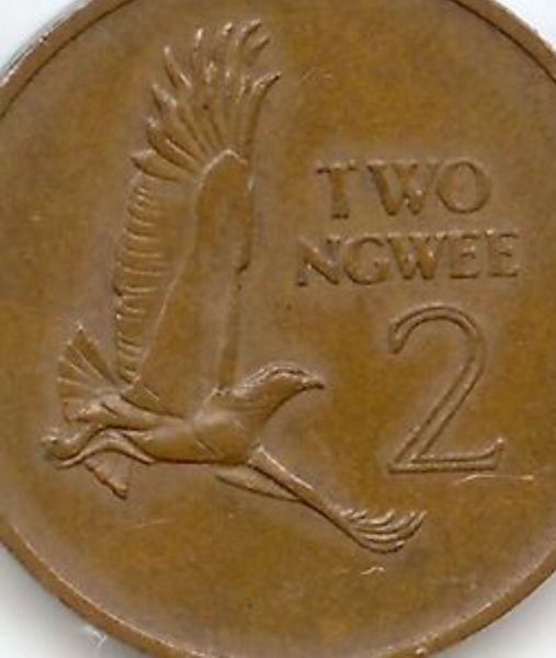 Zambia 2 NGWEE Coins 1968 All In Good Condition