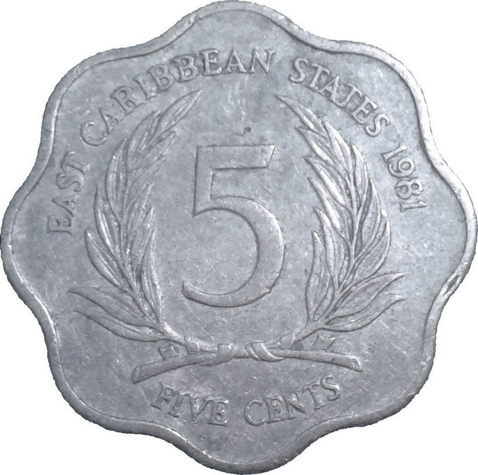 5 Cent Coins East & British Caribbean States & Territories