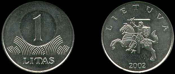 Lithuania 1 Litas Coins 1960 - 2014 Europe