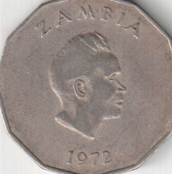 Zambia 50 (Fifty) NGWEE Coins 1972 All In Good Condition