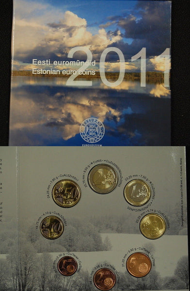 Estonia Euro Mint Set, B.U Coins