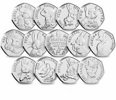 50p Beatrix Potter Coins - Uncirculated