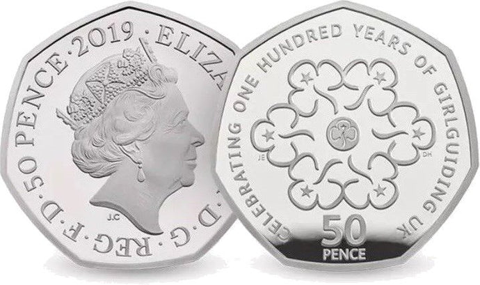 Girl Guides 50p Coin 2019 Version Brilliant Uncirculated