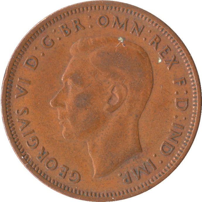 1/2d King George VI 6th Hap-penny Good Condition