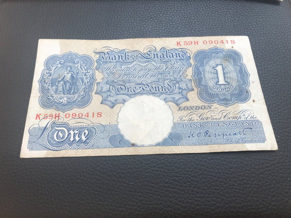 One Pound Banknote K.O. Peppiatte Chief Cashier £1 Choose Uncirculated VGC Cheap Creased Marked Random Serial Number
