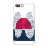 Red Sunrise Blue Trees Phone Cases