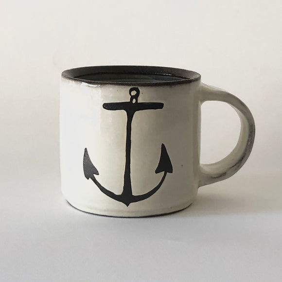 Chocolate Stoneware Anchor Mug