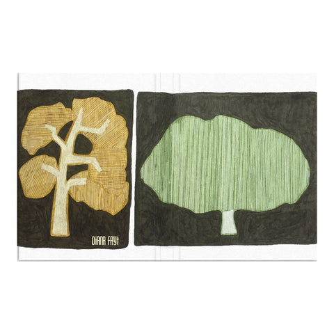 Green Gold Oak Tree Hardcover Journal