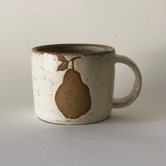 Speckled Stoneware Pear Mug