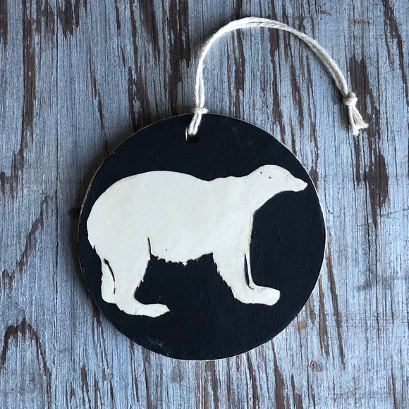 Chocolate/Ivory Polar Bear Ornament