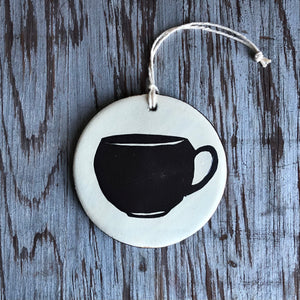 Ivory/Chocolate Cup Ornament
