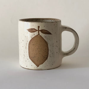 Speckled Stoneware Lemon Mug