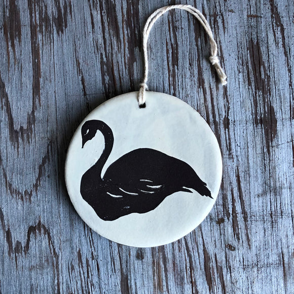 Copy of Ivory/Chocolate Swan Ornament