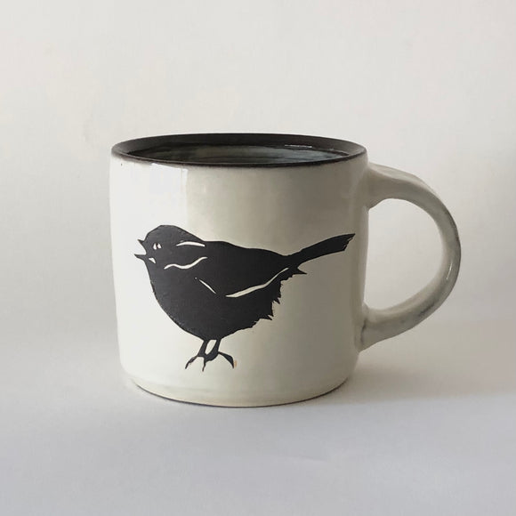 Chocolate Stoneware Singing Bird Mug