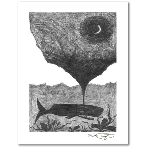 The Weight of the Moon Giclee Fine Art Print
