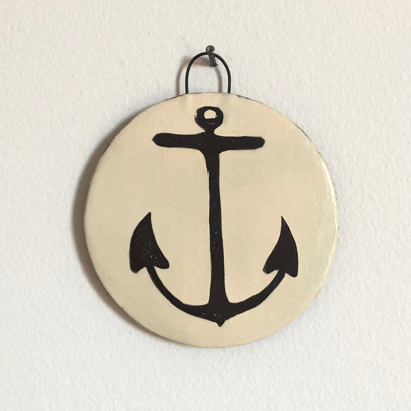 Anchor - Medium Round Wall Plaque