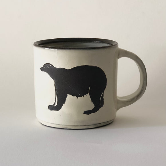 Chocolate Stoneware Bear Mug