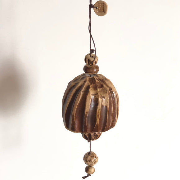 Large Walnut Brown Belle Chime