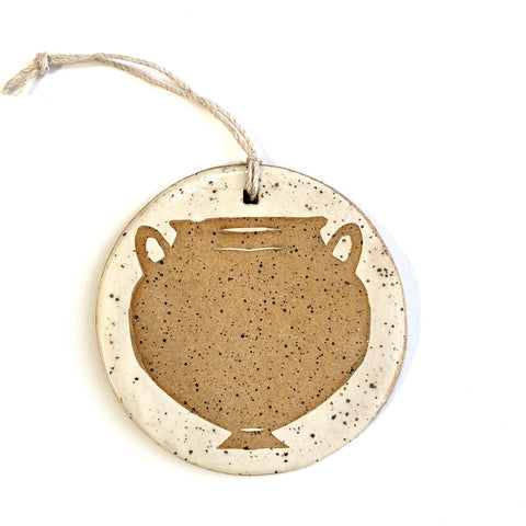 Speckled Gold Round Amphora Ornament