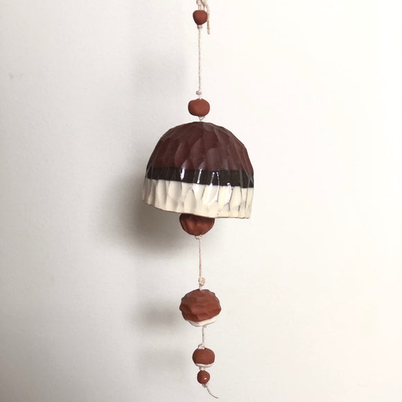 Large Red + Ivory Belle Chime