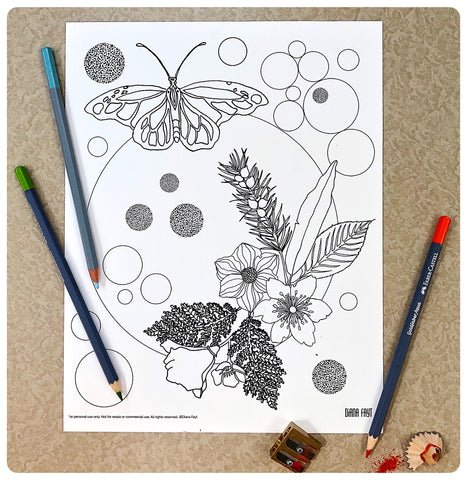 California Wild Coloring Page