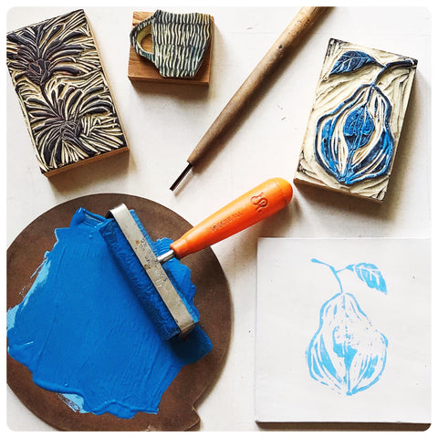Block Printed Clay Tiles