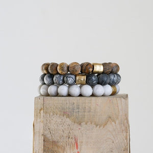 "8""L Stone Larch Stretch Bracelet"