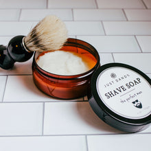 Shave Soap Amber Container