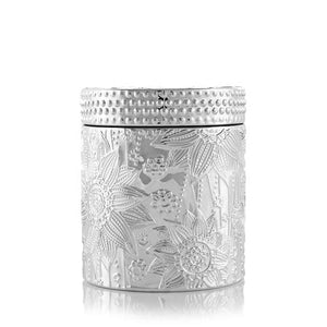 Coconut Wax Candle, 9 oz Ziva Silver