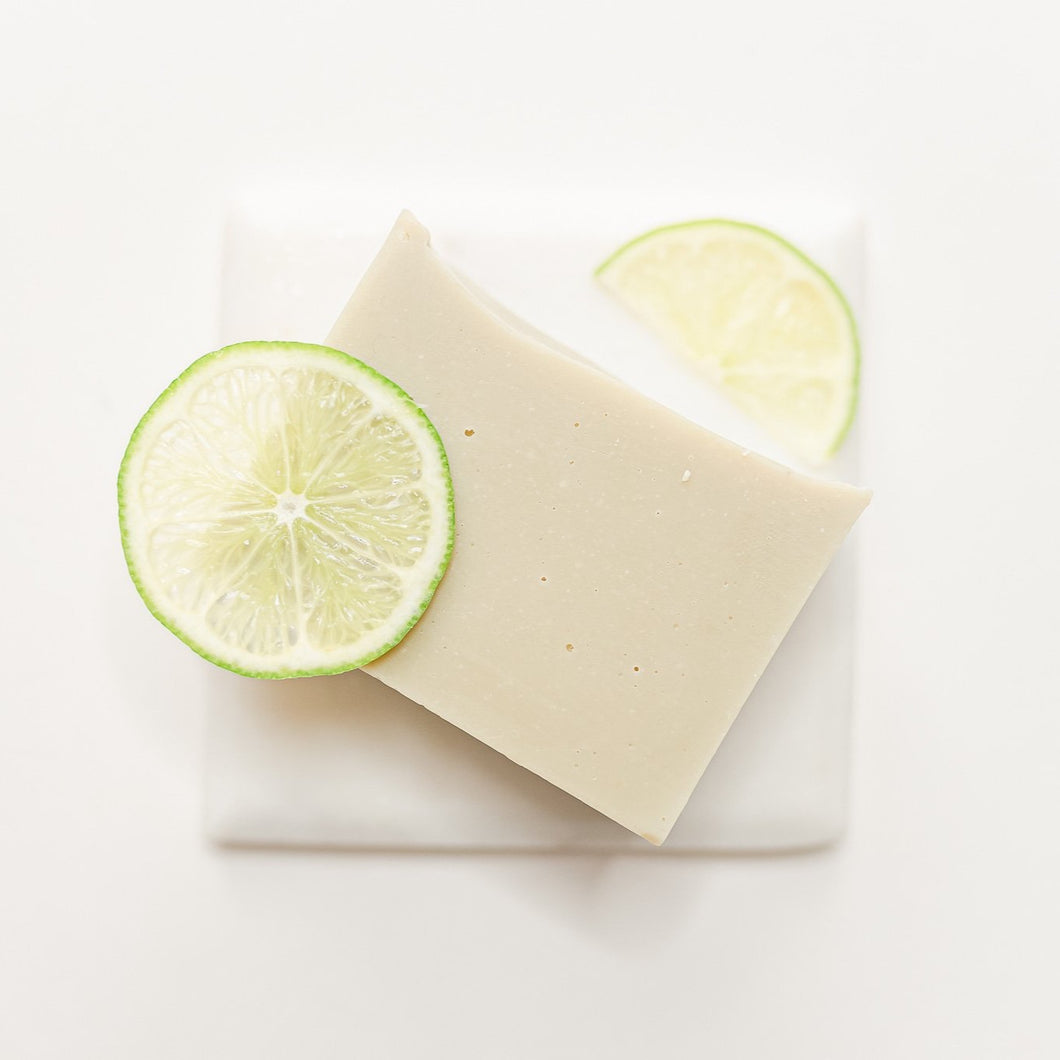 Lime & Patchouli Essential Oil Bar Soap