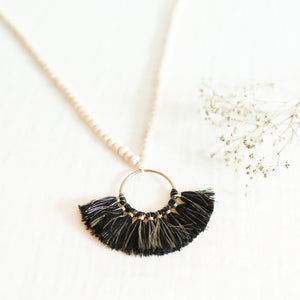 Toluca Necklace w/ Cotton Tassels