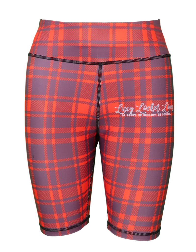 Red Tartan ACTIVE Shorts