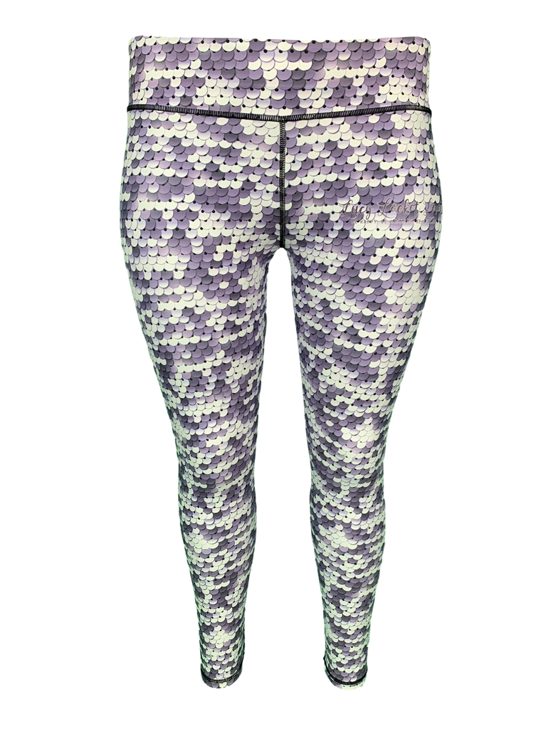 Silver Sequin ACTIVE Leggings