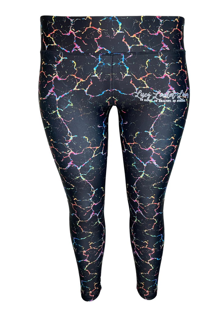 Multicoloured Marble ACTIVE Leggings