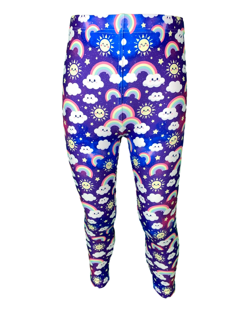 Purple Skies LITTLE LOCKET Leggings
