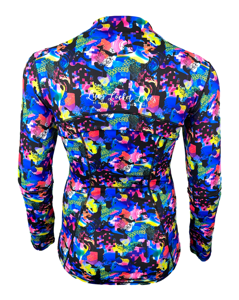 Abstract Zipped Jacket