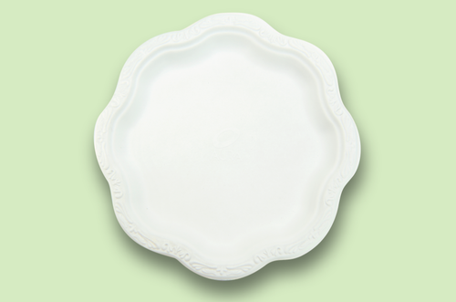 Sugarfiber™ 10 inch Acanthus Floral Plates