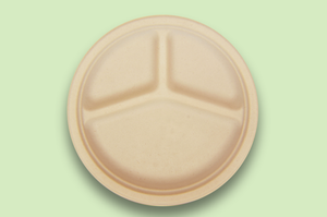 Sugarfiber™ 10 inch 3 Compartment Round Plates