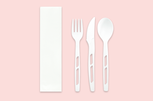 CPLA Cutlery Set with Napkin