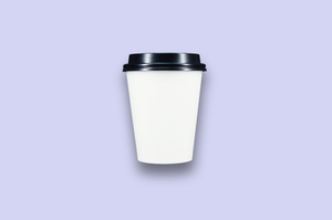 12oz White Single-Wall Paper Cups