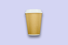 Load image into Gallery viewer, 12oz Kraft Rippled Textured Double-Wall Paper Cups