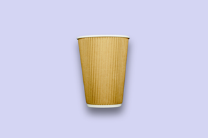 12oz Kraft Rippled Textured Double-Wall Paper Cups