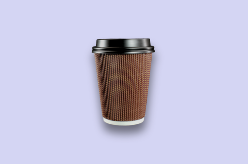 12oz Brown Rippled Textured Double-Wall Paper Cups