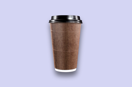 16oz Brown Rippled Textured Double-Wall Paper Cups