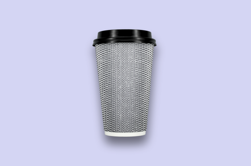 16oz Black Rippled Textured Double-Wall Paper Cups