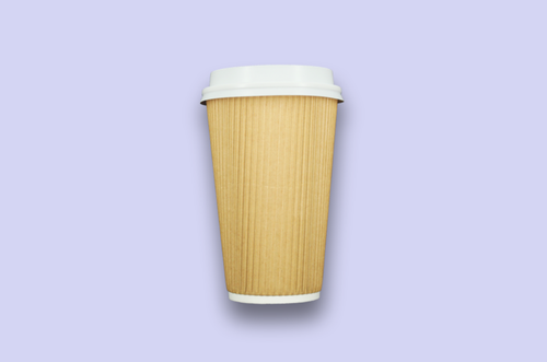 16oz Kraft Rippled Textured Double-Wall Paper Cups
